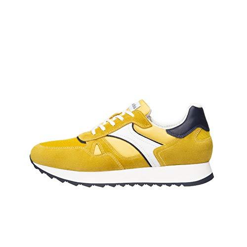 Nero Giardini E001500U Sneakers Uomo in Pelle, Camoscio E Tela - Mimosa 42 EU