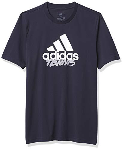 adidas Tennis Graphic Logo Camiseta, Azul Oscuro, Extra-Small para Hombre