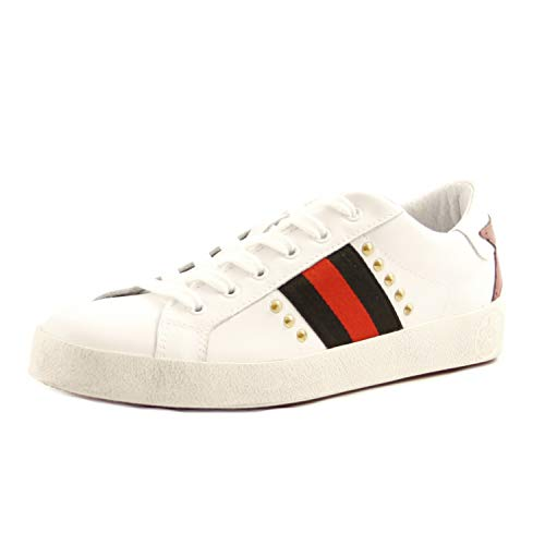 IGI&CO - Zapatillas deportivas para mujer de ante con tachuelas negras Negro Size: 38 EU (Ropa)