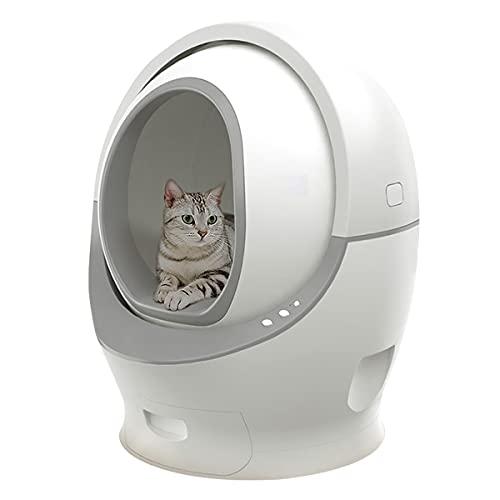 Litière automatique auto-nettoyante pour chat - Avec déodorant pour poids et nettoyage avec capteur de gravité.