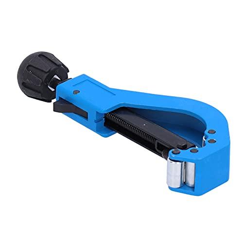 Tijera para cortar tubos, cuchillas de acero compactas, tamaño pequeño con rodillos dobles Cortatubos para cortar tubos de plástico PVC(Cortador grande)
