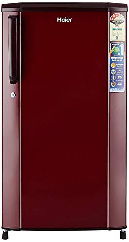 Haier 170 L3 Star Direct Cool Single Door Refrigerator(HRD-1703SR-R/HRD-1703SR-E, Burgundy Red)