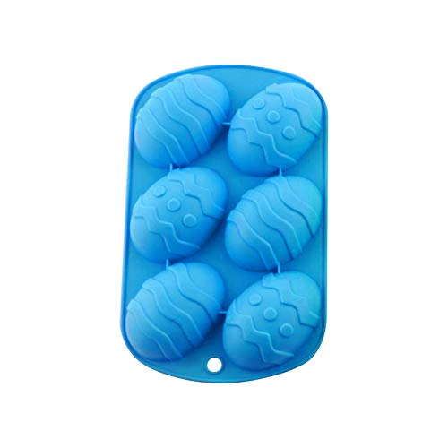 1PCs Easter Silicone Mold - 6 Holes DIY Baking Mold for Chocolate Cake Jelly Pudding Handmade Soap Mould Candy Making (F)