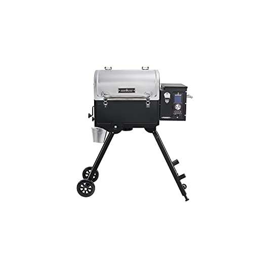 Camp Chef 20  Pursuit Portable Pellet Grill, PPG20, Black, Stainless, Total Rack Surface Area: 501 sq. in