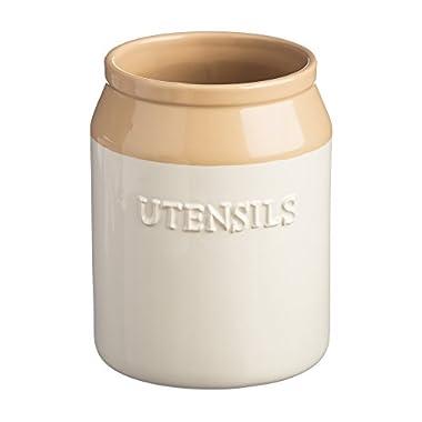 Mason Cash Cane Stoneware Utensil Jar, 1-1/4-Quarts