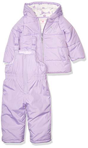 Carter's Girls' Heavyweight 2-Piece Skisuit Snowsuit, Purple Unicorn, 4T