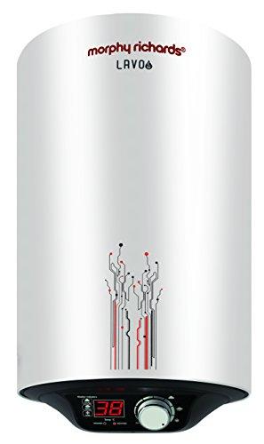 Morphy Richards Lavo EM Storage 10-Litre Vertical Water Heater, Silver, 5 Star
