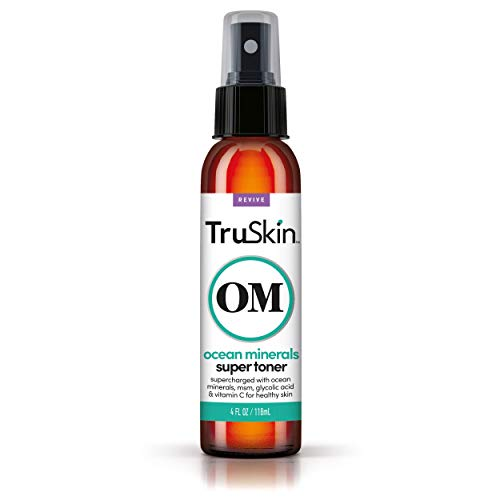 TruSkin Daily Facial Super Toner for All Skin Types, with Glycolic Acid, Vitamin C, Ocean Minerals and Organic Anti Aging Ingredients