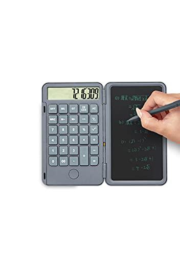 QINGQING Calculadora,Tablero de Escritura a Mano LCD portátil,computadora de la Escuela Primaria,calculadora científica,Tablero de Escritura electrónica,Pantalla LCD Flexible LED