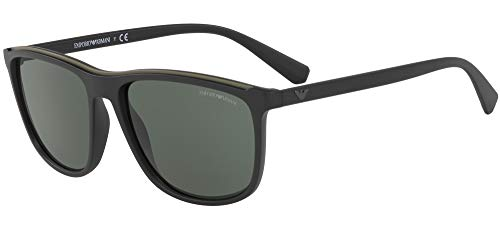 Armani sunglasses for men and women Emporio Armani EA4109 575671 Matte Black EA4109 Rectangle Sunglasses Lens Categ