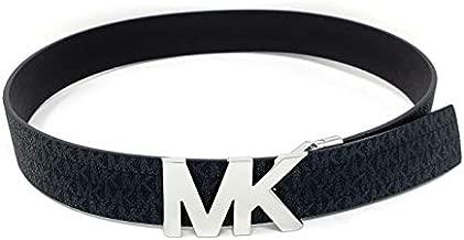 Michael Kors Reversible Black/Brown Belt Silver MK Logo (S)