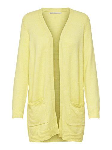 ONLY Damen Strickjacke Open LElfin Yellow