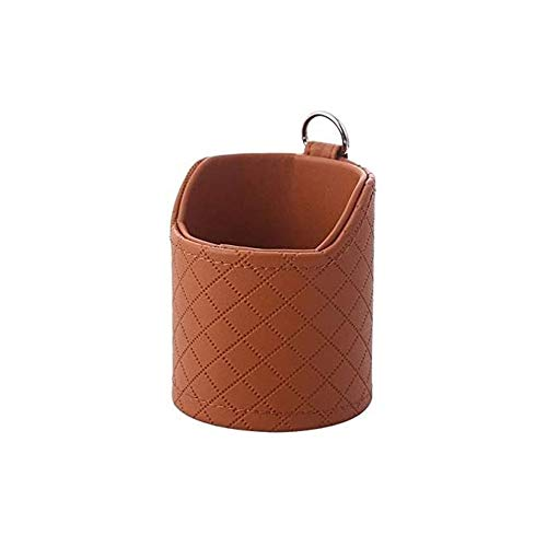 Bolsillo de red para coche Coche Teléfono Móvil Bolsa de almacenamiento Coche Creativo Outlet Air Bag Coche Titular de Teléfono móvil Vidrios Caja de caja Caja Caja de certificación (Color : Brown)