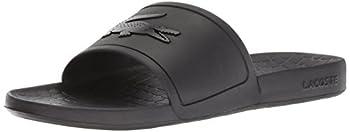 Lacoste Men s Croco Slide Sandal Black/Black Fraiser 7 Medium US
