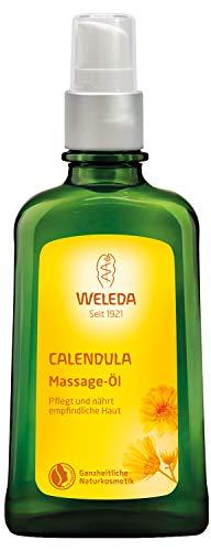 WELEDA Calendula Massage-Öl, Naturkosmetik Körperöl für die Pflege und Massage, 100ml