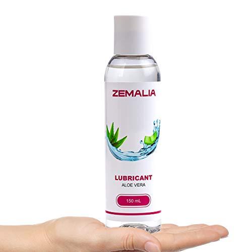 ZEMALIA   Gel lubricante sexual a base de agua íntimo de larga duración sabor aloe vera. Ideal para sexo anal, vaginal y oral  Natural 100%  Lubricante Natural  150ml