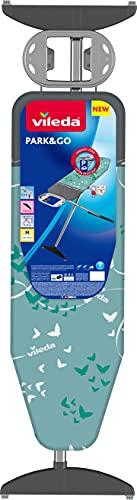 Vileda Park & Go Plus Bügelbrett mit integrierter Bügeleisenparkzone, 120 x 38 cm