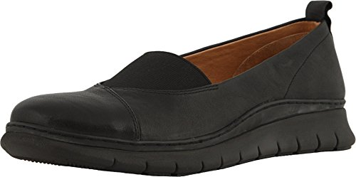 Vionic Women's Linden Slip-on - Ladies Walking Loafer with Concealed Orthotic Support Black 6.5 M US