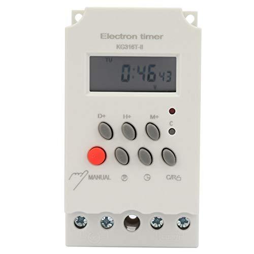 Interruptor de tiempo digital KG316T-II 220VAC 25A Temporizador programable Microordenador para aplicaciones industriales