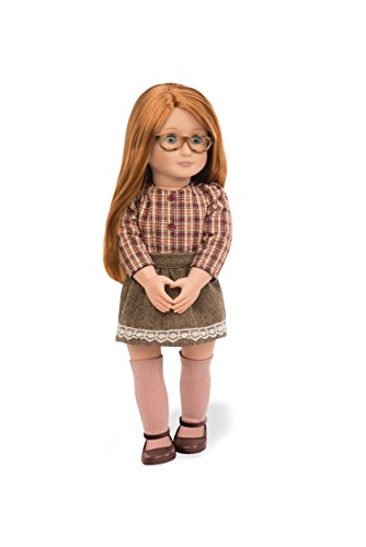 Our Generation 44428 Doll w/Plaid Shirt & Skirt, April