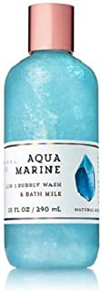 Bath and Body Works 2-in-1 Bubbly Bubble Wash and Bath Milk Aquamarine 10 Ounce