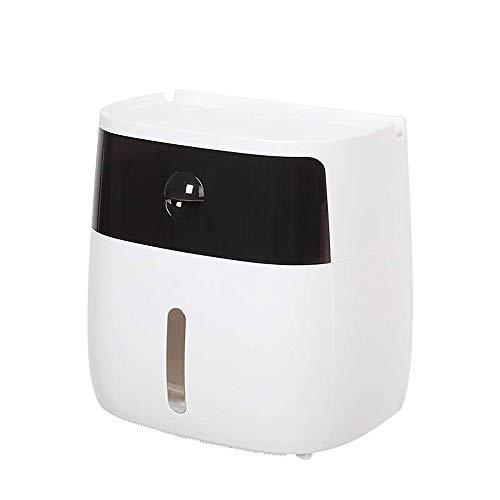 TTAototech toiletpapier houder kunststof bad muur gemonteerde opbergdoos Tissue Dispenser voor keuken spullen papier houder Handige Roll Box Keuken Multifunctioneel