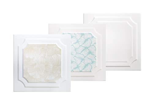 30 m² platen van polystyrol, plafondplaten, sierdeken, decoratie voor panelen 50 x 50 cm, nr.03