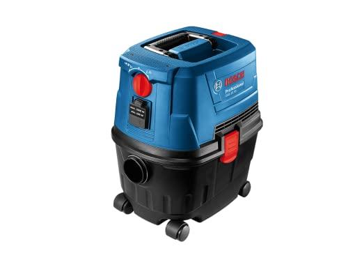 Bosch Professional Nass-/Trockensauger GAS 15 PS (inkl. Fugendüse, Krümmer, Bodendüsenset, 1x3m Schlauch, Rohre (2Stk.), im Karton)