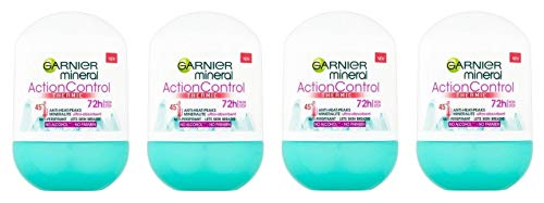 (Pack of 4) Garnier Mineral Action Control Thermic Anti-perspirant Roll On for Women 4x50ml