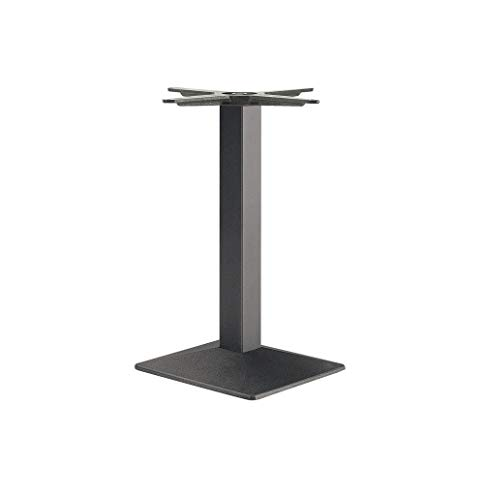 Gedotec Säulen-Tischgestell eckig Möbelfuß höhen-verstellbar Tischbein schwarz - Modell EES 705 | Höhe 705 mm | Tisch-Gestell mit verstellbaren Bodengleiter | 1 Stück - Design Tischfuß Untergestell