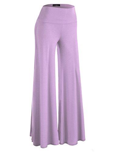 MBJ WB750 Womens Chic Palazzo Lounge Pants S Lavender