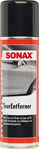 SONAX Nettoyant goudron (300 ml) elimine les taches de goudroen et d'huile sur les peintures et les chromes   Réf: 03342000