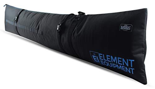 Element Equipment Gepolsterte Skitasche verstellbar für Reisetasche Skitasche, schwarz/blau