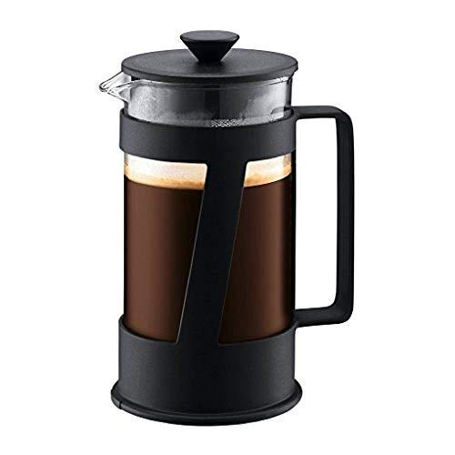 Bodum - 10883-01 - Crema - Cafetière à Piston 8 Tasses - 1 L - Noir