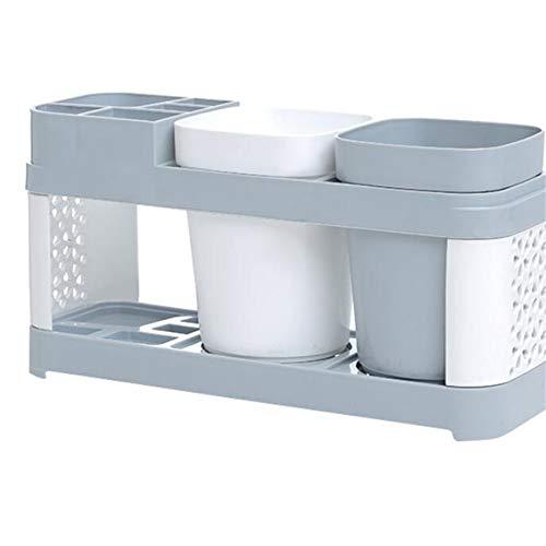 Yesiidor Multifunktionaler Zahnbürstenhalter Aufbewahrungsregal Zahnbürstenbehälter Organizer