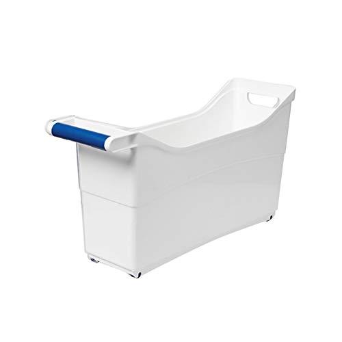 YUMEIGE Caja de almacenamiento de cosméticos Cesta de almacenamiento del gabinete, caja de almacenamiento de plástico extraíble con ruedas, macetas de cocina y utensilios Caja de almacenamiento de esc
