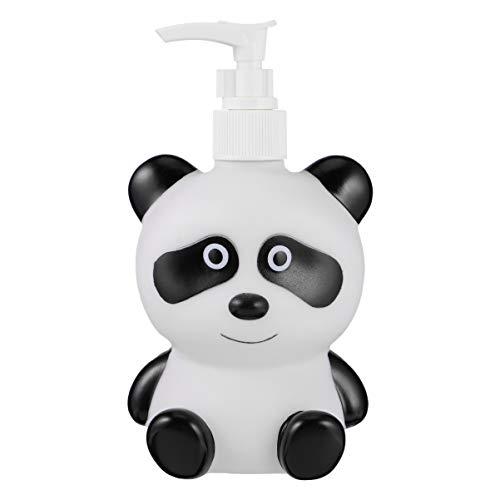 Cabilock - Botellas de dispensador de jabón con forma de panda (300 ml)