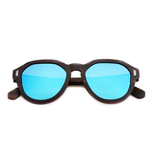 GTYHJUIK Vintage Houten Rice Nail Zonnebril Fashion Shade Mirror UV-bestendige bril Outdoor Persoonlijkheid Casual Travel