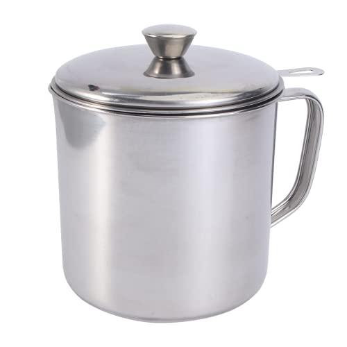 Lurrose 1. Recipiente de Grasa de Bacon de 8L con Filtro de Acero Inoxidable para Filtros de Aceite de Cocina Aparatos de Cocina para Almacenar Y Filtrar Grasa de Cocina