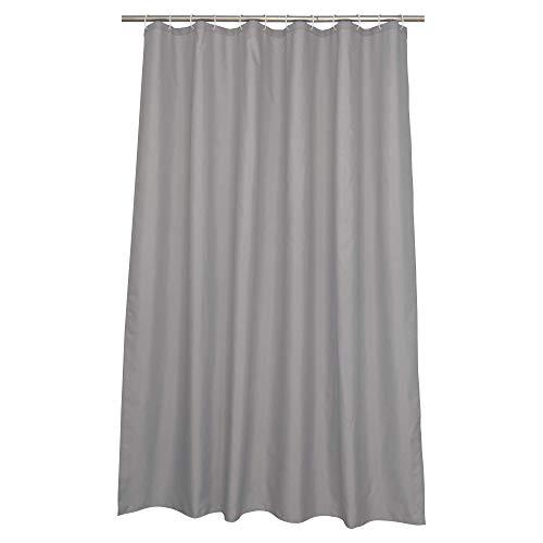 SENSEA - Textil-Duschvorhang - Happy - Granit - B.180 x H.200 cm