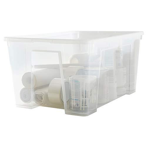 IKEA 098.508.74 Samla - Caja con tapa, transparente