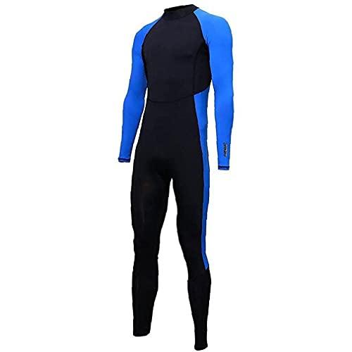 Hombres Mujeres Wetsuit One Piece Swimwee Seco rápido Cuerpo Completo Buceo Taje Impermeable Traje UV Protección de Manga Larga para Surfear Natación Summer Shield,L