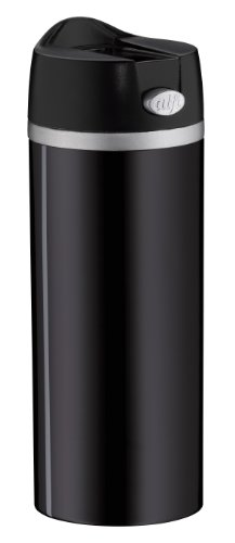 alfi 5817.233.035 Coffee To Go Trinkbecher isoMug Perfect, Edelstahl Schwarz 0,35 l, zerlegbarer Verschluss, Spülmaschinenfest, 4 Stunden heiß