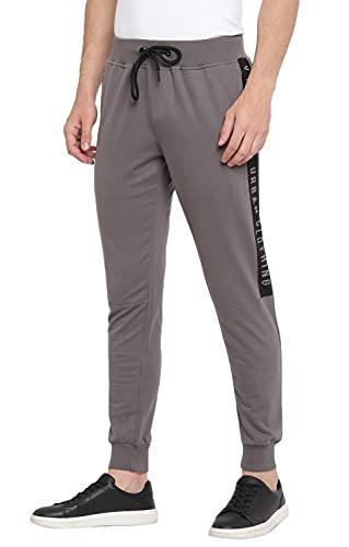 Alan Jones Clothing Men's Solid Joggers Track Pants
