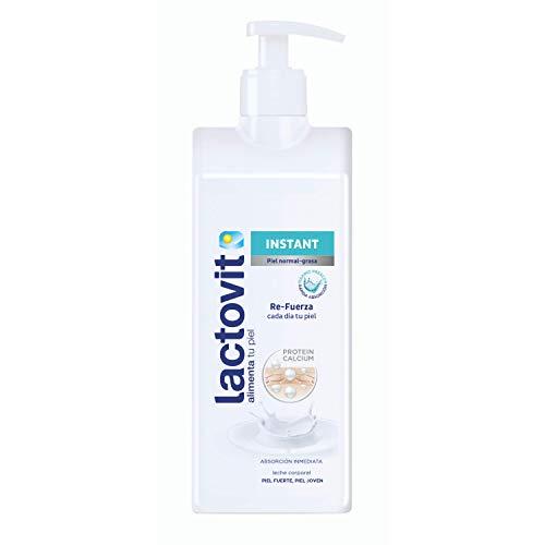 Lactovit - Leche Corporal Instant con Protein Calcium y de Rápida Absorción, para Pieles Normales y Grasas - 400 ml