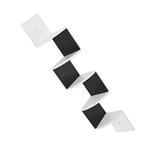 Wakects - Estantería esquinera de 5 capas, vitrina de libros de almacenamiento, estantería de pared radial clásica de 5 capas, apta para salón, estudio, oficina