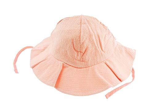 Chapeau cloche de soleil à bords mous en coton pour bébé, filles, garçons, pour vacances d'été, 6-24 mois rose rose taille unique