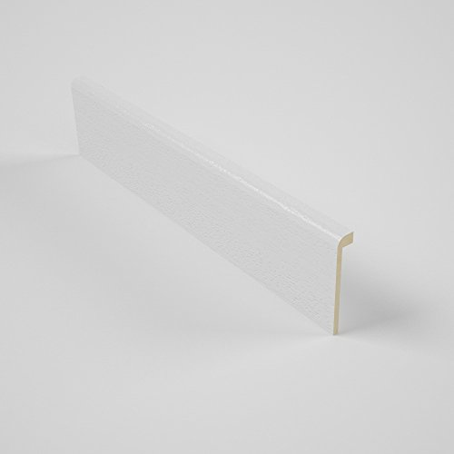 Cubierta Moderna para rodapié en madera Tinto Blanco 90x16mm