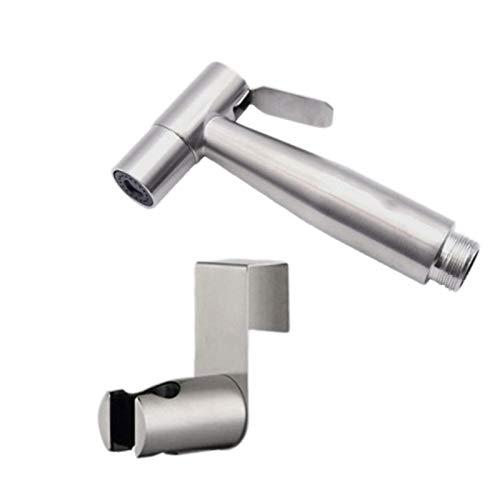 Ctzrzyt Pulverizador de Inodoro de Plata Kit de Pulverizador de Acero Inoxidable de Bidé para Inodoro para Rociador de Ducha Pared o Inodoro