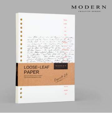 Rocco Best Quality - notebooks - highend A5 echt lederen notebook office stationery commerciële writing pads notepad loose bladspiraalbinder met ringen dikwijy - 1 pc Good Filler Papers - A5